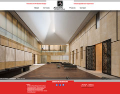 Website for a national acoustical design consultancy