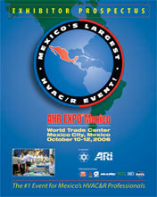 Exhibitor prospectus for an HVAC&R trade show in Mexico.