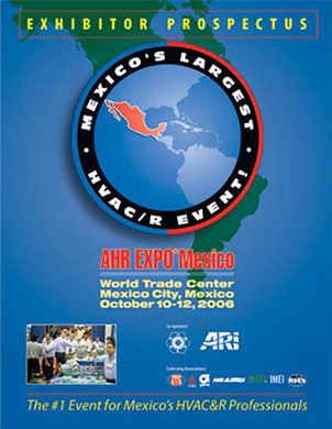 Printed exhibitor prospectus for an HVAC&R trade show in Mexico.