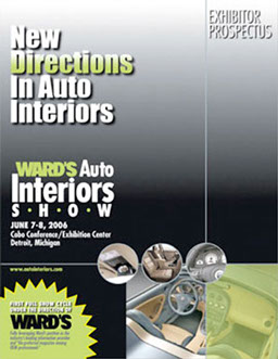 Show materials for an auto interiors show and conference.