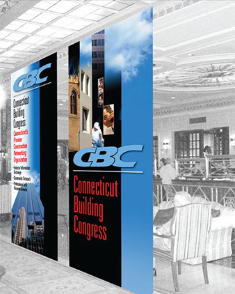 Event signage for a construction association.