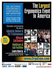 Printed conference planner for a National Ergonomics show.