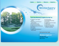 Website for a New England irrigation company