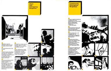 Louisiana Chemical Association safety brochure illustrations.
