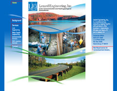 Website for a New England civil, environmental, and hyprogeological engineering company