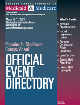 Event directory for a Medicaid & Medicare conference.
