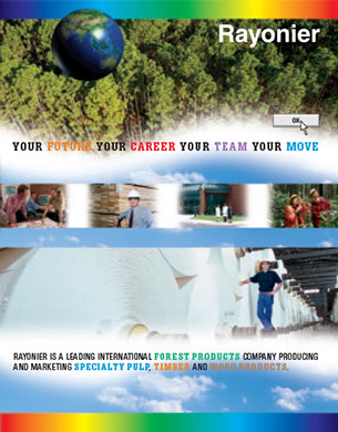 College recruiting package for a forest products company.