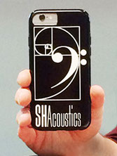 Branding for acoustical consulting and services: stationery: iPhone cover
