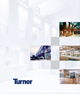 Proposal dividers for Turner Construction Company.