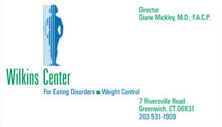 Logotype for medical services: eating disorders and weight control.